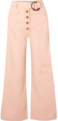 REJINA PYO - Emily Belted High-rise Wide-leg Jeans - Peach