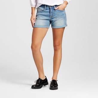 Mossimo Women's High-rise Midi Shorts Medium Wash - Mossimo $19.99 thestylecure.com