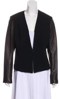 Rag & Bone Leather-Accented Structured Blazer
