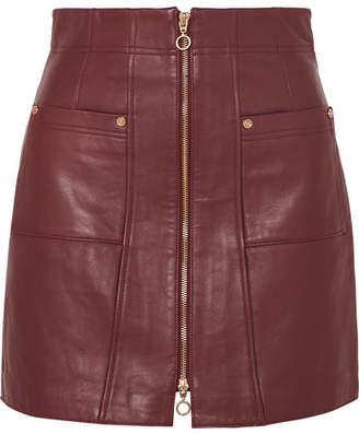 5451e08148 Alice McCall Make Me Yours Leather Mini Skirt - Burgundy
