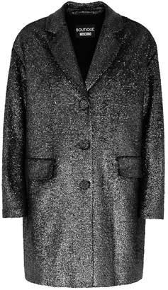 Moschino Gunmetal Bouclé Coat