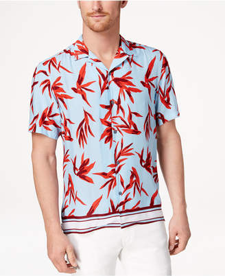 INC International Concepts I.n.c. Men's Hani Floral Camp Collar Shirt, Created for Macy's