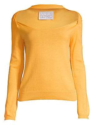 Victor Glemaud Women's Long Sleeve Cutout Wool Top