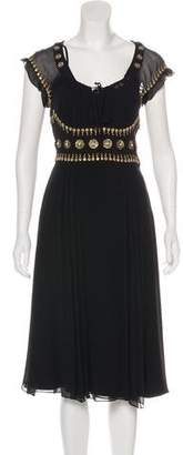 Temperley London Embellished Midi Dress