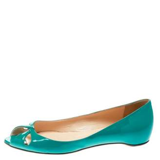Christian Louboutin Green Patent leather Ballet flats