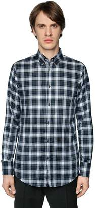 DSQUARED2 Plaid Cotton Shirt W/ Elbow Patches