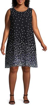Studio 1 Sleeveless Polka Dot Sheath Dress - Plus