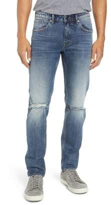 A V Denim Mick Slim Fit Ripped Jeans