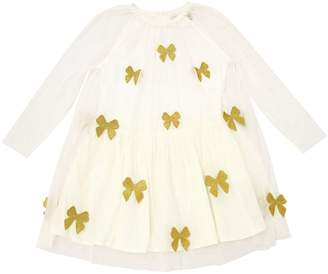 Stella McCartney Bows Patches Stretch Tulle Dress