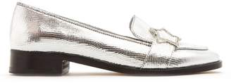 ALEXACHUNG Embellished-star faux-leather loafers