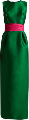 OSCAR DE LA RENTA Bi-colour satin column gown $5,480 thestylecure.com
