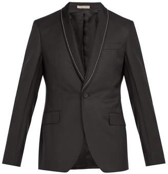 Bottega Veneta Chain Embellished Houndstooth Blazer - Mens - Black