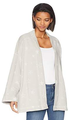 Michael Stars Women's Burnout Star Terry Open Front Cardi