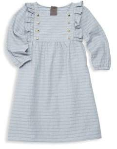 Leah and Rae Little Girl's& Girl's London Stripe Cotton Dress