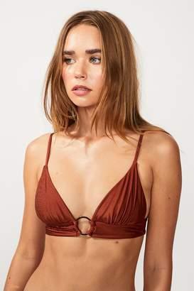 SUBOO Gaby Ring Front Triangle Bikini Top - Copper