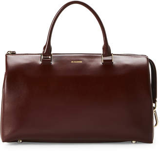 Jil Sander Brown Leather Tote Bag