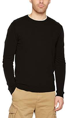Benetton Men's Sweater L/s Sweatshirt, (Black 100), (Size: EL)