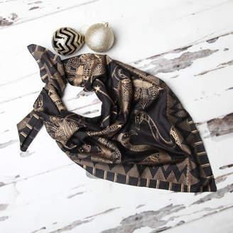 NV London Calcutta 'My Favourite Bird' Luxurious Pure Silk Scarf