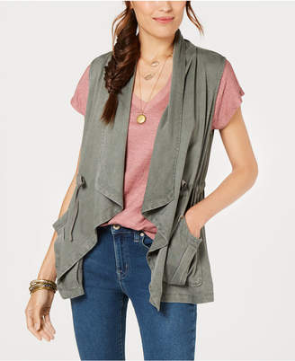Style&Co. Style & Co Draped Open-Front Vest, Created for Macy's