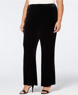 Calvin Klein Plus Size Velvet Wide-Leg Pants