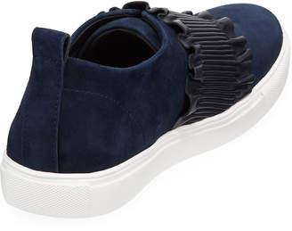 Donald J Pliner Samie Mixed Ruffle Sneakers
