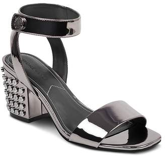 KENDALL + KYLIE Women's Sophie2 Studded Patent Leather Block Heel Sandals