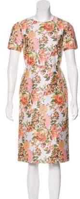 Stella McCartney Floral Print Midi Dress