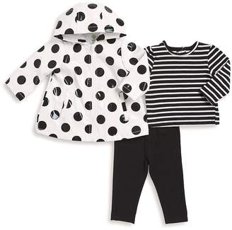 Little Me Baby's Three-Piece Jacket, Cotton Top and Leggings Set