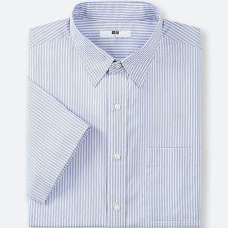 Uniqlo Men's Dry Easy Care Striped Short-sleeve Shirt(online Exclusive)