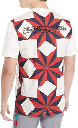 Calvin Klein Men's Quilt Graphic T-Shirt