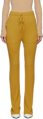 Marques Almeida Yellow Knitted Trousers
