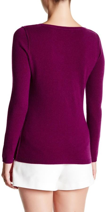 In Cashmere Cashmere Open-Stitch Pullover Sweater 5