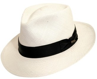Men's Scala Straw Panama Hat - White $130 thestylecure.com