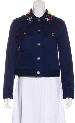 Tory Burch Embellished Button-Up Jacket