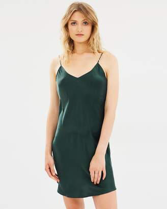 Short 90's Silk Slip Dress