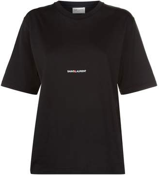 Saint Laurent Logo Print T-Shirt