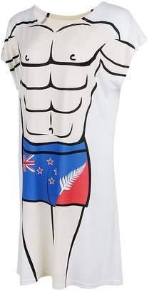 Homyl Novelty Fun Women's Muscle Man Bikini Printed Pajamas Swimwear Cover-Up Beach Fancy T-Shirt Dress Nightwear