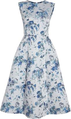 ADAM by Adam Lippes Floral Silk Jacquard Dress