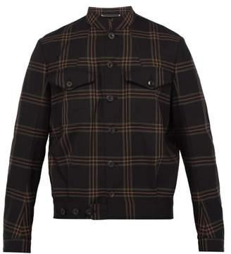 Paul Smith Checked Wool Bomber Jacket - Mens - Black