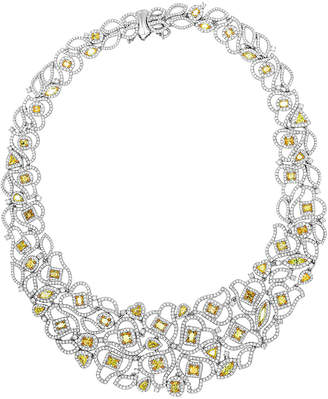 Roman and Jules Roman And Jules Yellow Label 18K Two-Tone 40.72 Ct. Tw. Diamond Necklace