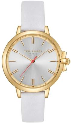 Ted Baker Leather Strap Watch, 36mm