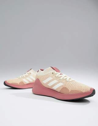 adidas Purebounce+ Sneakers In Pink & White