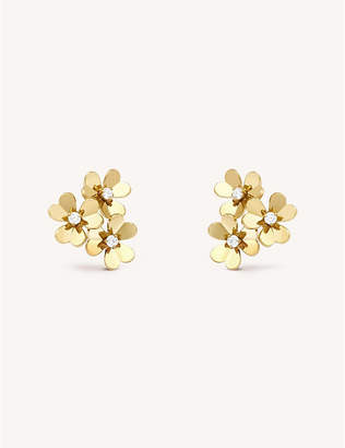 Van Cleef & Arpels Frivole yellow-gold and diamond earrings