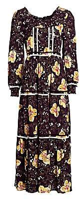 By Ti Mo byTiMo Women's Bell-Sleeve Floral Maxi Dress