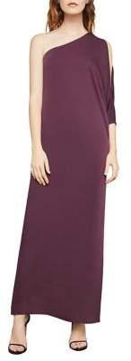 BCBGMAXAZRIA Cascading One-Shoulder Gown