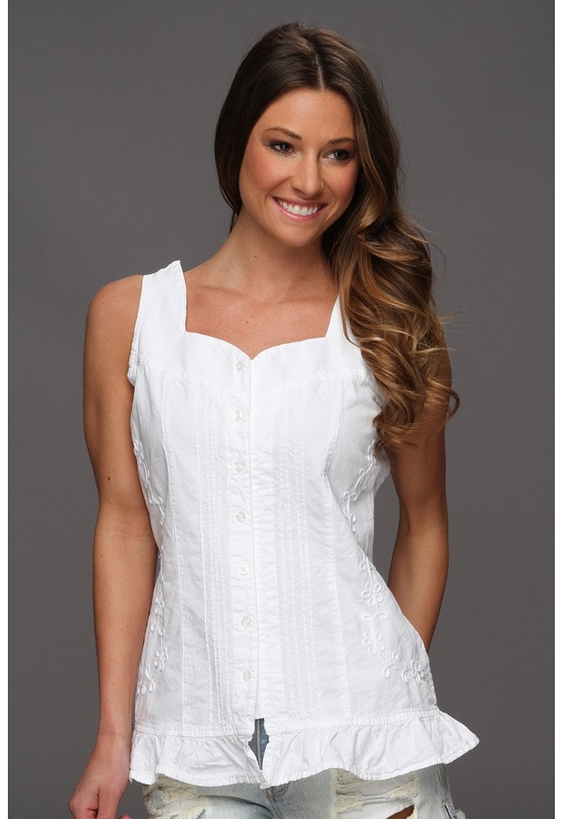 Scully Cantina Ladies Abagail Sleeveless (White) - Apparel
