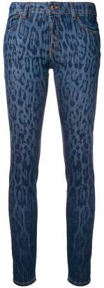 Just Cavalli abstract pattern skinny jeans