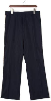 N°21 (ヌメロ ヴェントゥーノ) - N 21 サイドライン センタープレス パンツ ネイビー 44