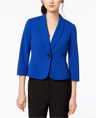Kasper Petite One-Button Shawl-Collar Jacket