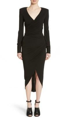 Women's Michael Kors Stretch Jersey Wrap Dress $1,575 thestylecure.com